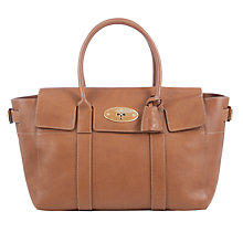Buy Mulberry Bayswater Buckle Leather Grab Bag, Oak Online at johnlewis.com