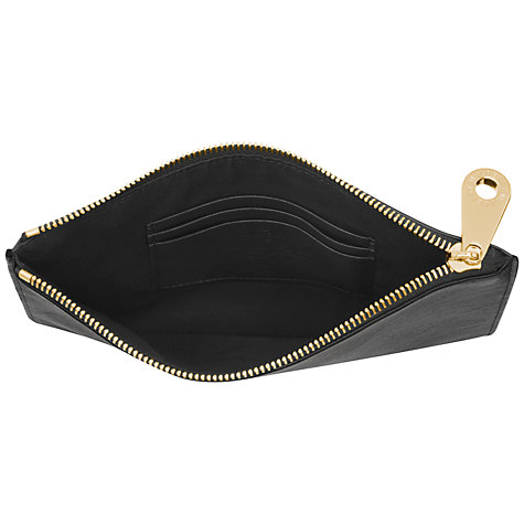 Buy Mulberry Bow Leather Pouch, Black Online at johnlewis.com