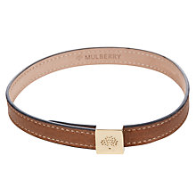 Buy Mulberry Tessie Leather Bracelet, Oak Online at johnlewis.com
