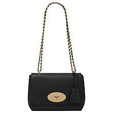 Buy Mulberry Lily Leather Small Shoulder Handbag, Black Croc Online at johnlewis.com