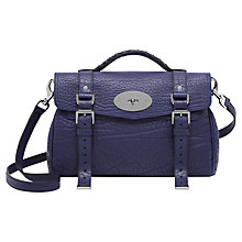 Buy Mulberry Alexa Leather Bag, Indigo Online at johnlewis.com
