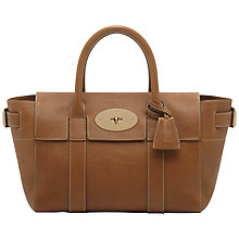 Buy Mulberry Small Bayswater Buckle Leather Grab Bag, Oak Online at johnlewis.com