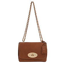 Buy Mulberry Lily Leather Bag, Oak-Brass Online at johnlewis.com