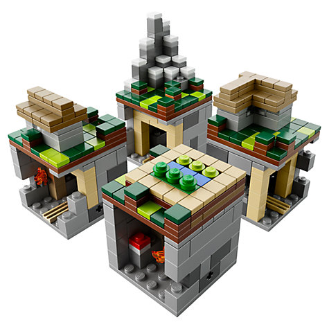 Buy LEGO Minecraft The Village Microworld Online at johnlewis.com