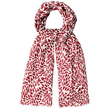 Buy White Stuff Heart Breaker Scarf, Dark Rouge Online at johnlewis.com