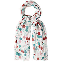 Buy White Stuff Cherry Spot Print Scarf, Natural Online at johnlewis.com