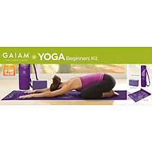 Buy Gaiam Watercress Cargo Yoga Mat Bag, Purple Online at johnlewis.com
