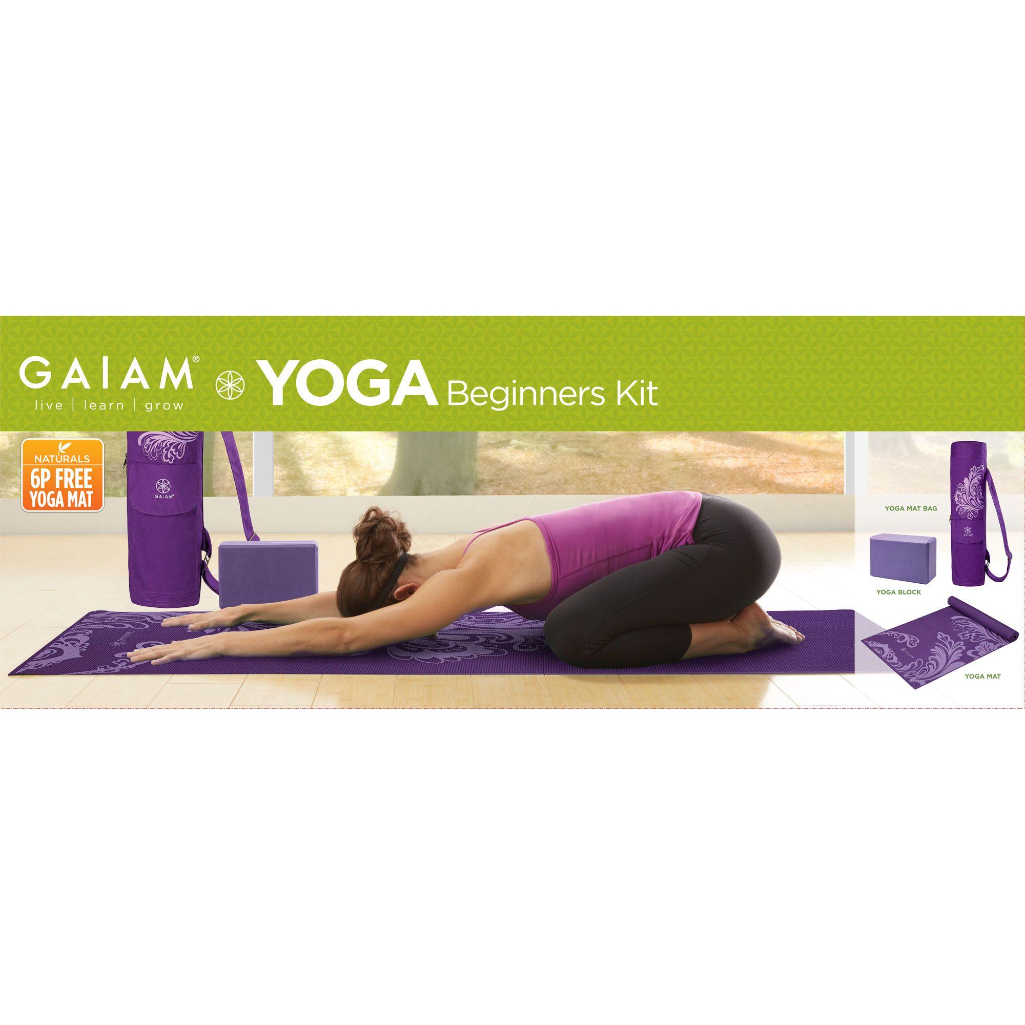 Gaiam Watercress Cargo Yoga Mat Bag, Purple
