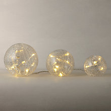 Buy Parlane Crackle Glass LED Balls, Set of 3 Online at johnlewis.com