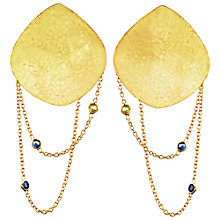 Buy Auren 22ct Gold Vermeil Hammered Disc Sapphire Drop Earrings Online at johnlewis.com