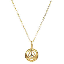 Buy Auren 22ct Gold Vermeil Diamond Magic Triangle Pendant Online at johnlewis.com