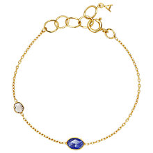 Buy Auren 22ct Gold Vermeil Gemstone Slice Bracelet Online at johnlewis.com