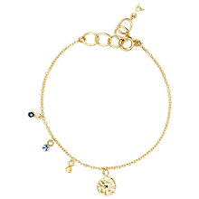 Buy Auren 22ct Gold Vermeil Graduating Sapphire Disc Bracelet Online at johnlewis.com