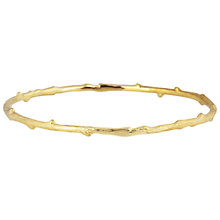 Buy Auren 22ct Gold Vermeil Textured Branch Bangle Online at johnlewis.com