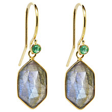 Buy Auren 22ct Gold Vermeil Hexagonal Drop Earrings Online at johnlewis.com