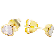 Buy Auren 22ct Gold Vermeil Diamond Slice Stud Earrings Online at johnlewis.com