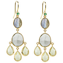 Buy Auren 22ct Gold Vermeil Tribal Mixed Gemstone Drop Earrings Online at johnlewis.com