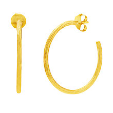 Buy Auren 22ct Gold Vermeil Textured Branch Hoop Earrings Online at johnlewis.com