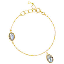 Buy Auren 22ct Gold Vermeil Two Stone Labradorite Bracelet Online at johnlewis.com