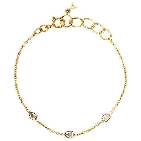 Buy Auren 22ct Gold Vermeil Diamond Slices Bracelet Online at johnlewis.com