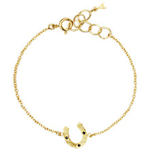 Buy Auren 22ct Gold Vermeil Diamond Horseshoe Bracelet Online at johnlewis.com