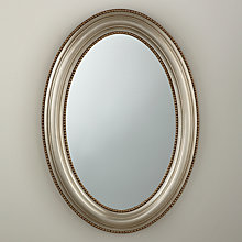 Buy John Lewis Bead Oval Mirror, Champagne, H85 x W60cm Online at johnlewis.com