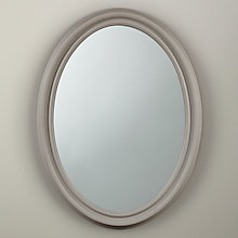 Buy John Lewis Croft Collection Oval Medium Mirror, 80 x 60cm, Grey Online at johnlewis.com