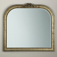 Buy Overmantel Bow Mirror, Gold Online at johnlewis.com