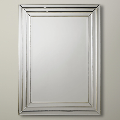 Image of Chambery Rectangular Mirror, Pewter, 117 x 86cm