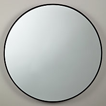 Buy John Lewis Scandi Metal Mirror, Black, Dia.61cm Online at johnlewis.com