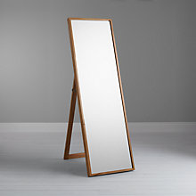 Buy Gallery Direct Scandi Cheval Oak Mirror, 104 x 73cm, Natural Online at johnlewis.com