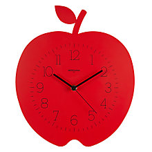 Buy Diamantini & Domeniconi Apple Clock, Red Online at johnlewis.com