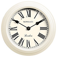 Buy Newgate Petite Gallery Clock, Dia.20cm, White Online at johnlewis.com