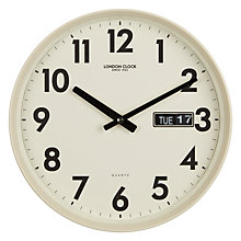 Buy London Clock 1922 Day Date Wall Clock, Dia.30cm Online at johnlewis.com