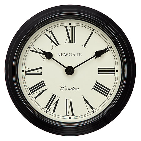 Buy Newgate Petite Gallery Clock, Linen White, Dia.20cm Online at johnlewis.com