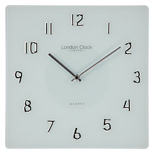 Buy London Clock Square Glass Wall Clock Online at johnlewis.com