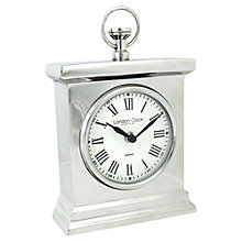 Buy London Clock Mantle Clock, Silver Online at johnlewis.com