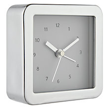 Buy London Clock Company Square Alarm Clock, Chrome Online at johnlewis.com
