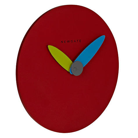 Buy Newgate Finger Wall Clock, Dia.20cm, Red Online at johnlewis.com