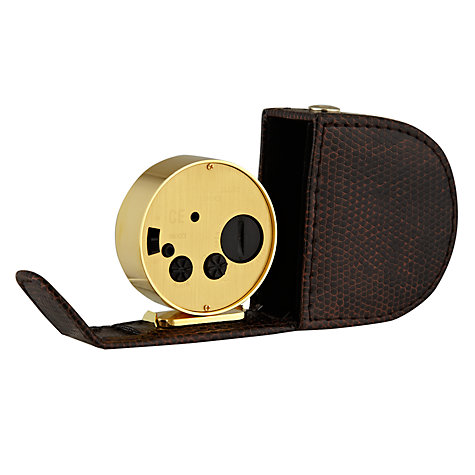 Buy Lascelles Travel Alarm Leather, Tortoishell Online at johnlewis.com