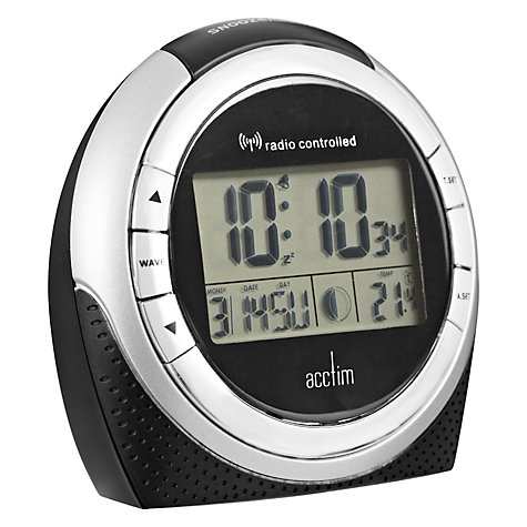 buy acctim zenith radio controlled lcd alarm clock john lewis. Black Bedroom Furniture Sets. Home Design Ideas