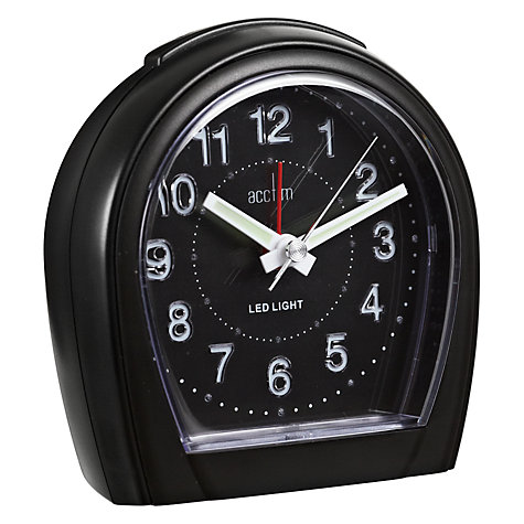 Buy Acctim Lumilight Clock, Black Online at johnlewis.com