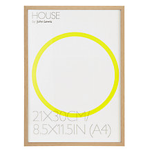 Buy House by John Lewis Natural Wood Finish Photo Frame, A4 (30 x 21cm) Online at johnlewis.com
