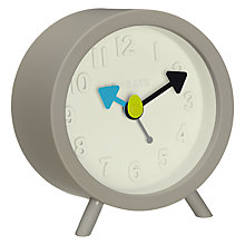 Buy Newgate Fred Alarm Clock, Grey Online at johnlewis.com