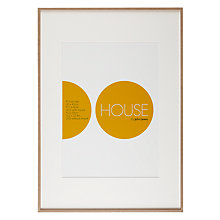 Buy House by John Lewis Natural Wood Effect Photo Frame, A2 with A3 Mount Online at johnlewis.com