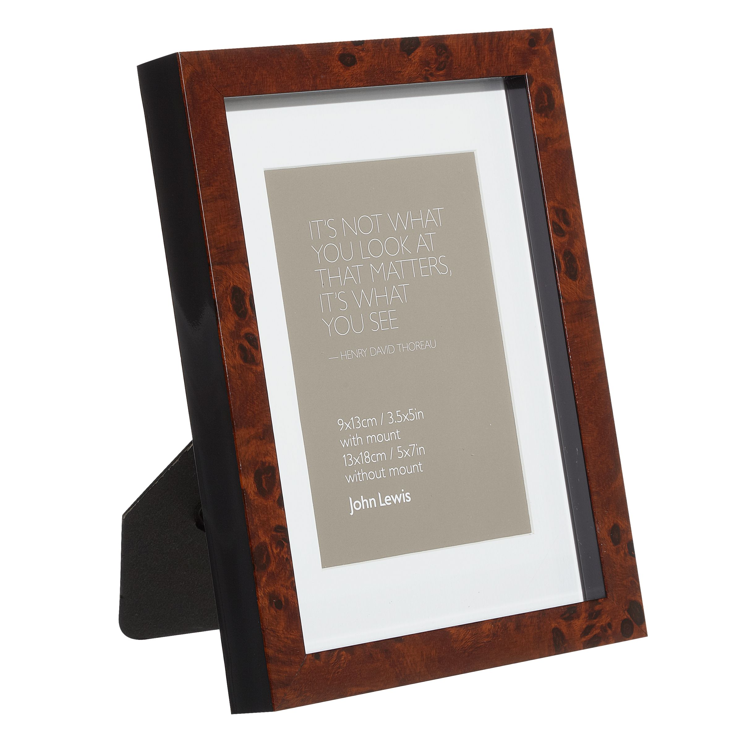 John Lewis Wedding Gift List Review : John Lewis Walnut Veneer Effect Photo Frame, 3.5 5