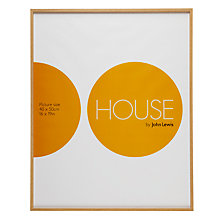 Buy House by John Lewis Natural Wood Effect Photo Frame, 40 x 50cm Online at johnlewis.com
