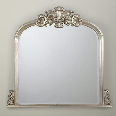 Image of Haversham Overmantel Mirror, Silver, H119 x W114cm
