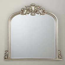 Buy Haversham Overmantel Mirror, Silver, H119 x W114cm Online at johnlewis.com