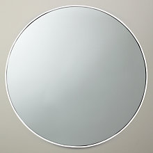 Buy John Lewis Scandi Metal Mirror, White, Dia. 51cm Online at johnlewis.com
